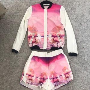Sabo Skirt bomber & shorts